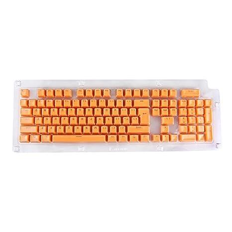 Wewoo 104 Teclas Doble Shot PBT Keycaps retroiluminada para Teclado mecánico Naranja: Amazon.es: Electrónica