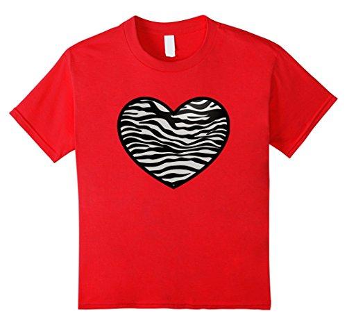 Kids I Love Zebras Shirt, Zebra Print Heart, Zebra Stripe...