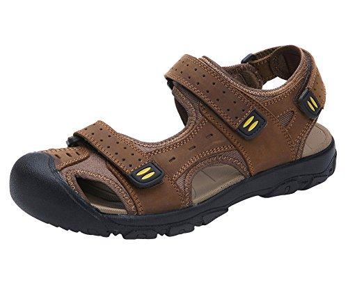 Tortor Strap Men's 1bacha Outdoor Athletic Adjustable Toe Brown Sandal Bump Closed rrfxY