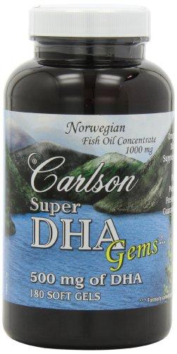 Carlson Labs – Super DHA 500 mg. – 180 Softgels