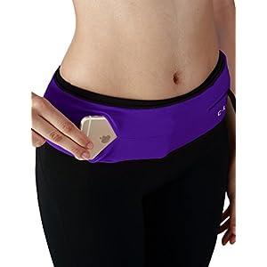 Yogareflex Running Belt Waist Pack , Universal Outdoor Sports Waist Fanny Pack Belt , Purple , Large