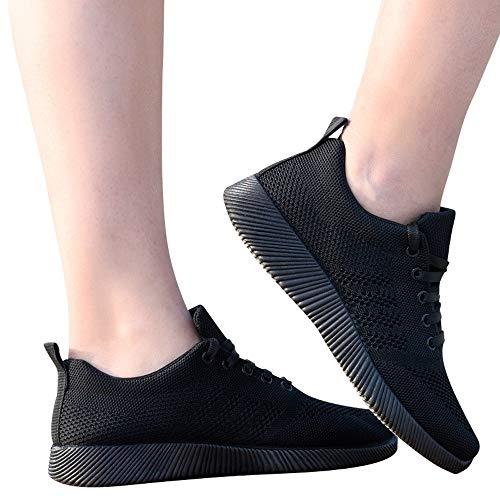 Calzado Sneakers Cordones De Deportiva Loafer Negro Caminar Cinnamou Mocasines Zapatillas Zapatos Ligeros Para Verano Transpirables Malla Walking Mujer Hv5xw