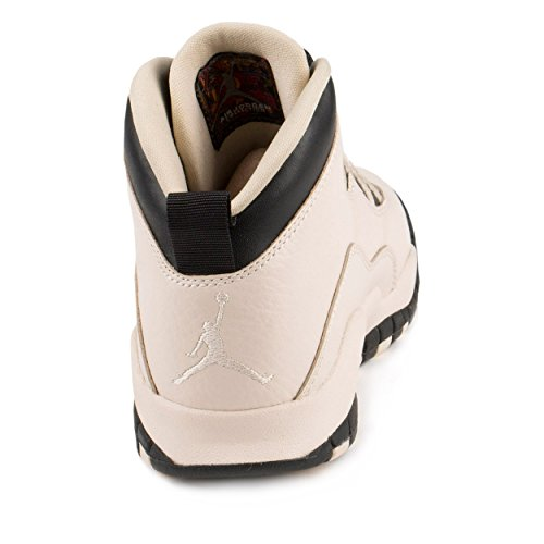 Jordan Nike Kids 10 Retro Prem GG Pearl White/Black/Black Basketball Shoe 6.5 Kids US by Jordan (Image #3)