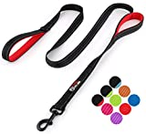 Primal Pet Gear Dog Leash 6ft Long - Traffic Padded Two Handle - Heavy Duty - Double Handles Lead Control Safety Training - Leashes Large Dogs Medium Dogs