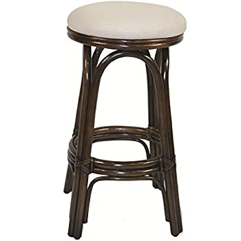 Indoor Swivel Rattan u0026 Wicker 30  Bar Stool Antique  sc 1 st  Amazon.com & Amazon.com: Carmen Indoor Swivel Rattan u0026 Wicker 30