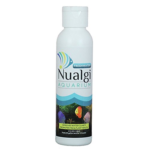 Nualgi Aquarium - Eliminates Nuisance Algae, Makes Water Crystal Clear, Enriches Aquarium & Improves Health of Fishes, Plants - 100% Safe, Best Algae Treatment for Freshwater Aquariums (4oz)