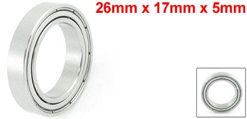 uxcell 6803ZZ Deep Groove Ball Bearings Z2 17mm X 26mm X 5mm Double Shielded Carbon Steel 5pcs
