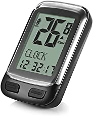 Wireless Bike Computer, Waterproof Bike Speedometer Odometer with Backlight LCD Display Built in Temperature D