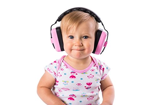 Little Llama Baby 6 Months to 4 Years Old Hearing Protection Ear Muffs - Super Comfortable Noise Reduction and Ear Protection for Your Infant Toddler and Child - Pink