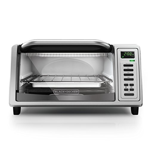 BLACK+DECKER TO1380SS 4-Slice Digital Toaster Oven, Includes Bake Pan, Broil Rack & Toasting Rack, Stainless Steel Digital Toaster Oven (Black And Decker Toast Oven compare prices)