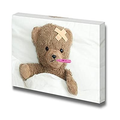 Canvas Prints Wall Art - Teddy in Hospital - 12