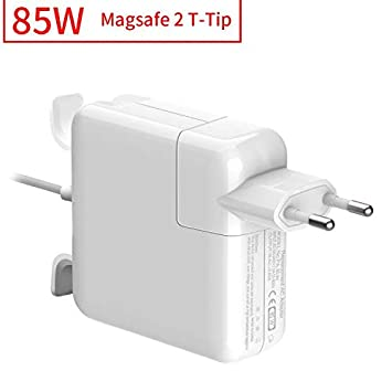 Rocketek Cargador Mac Book Pro 85W, Compatible con Cargador MacBook, MagSafe 2 Forma de T Adaptador de Corriente Funciona con los Macbook ...