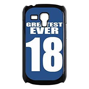 Football Greatest Ever No.18 Blue Jersey Hot Hard Case Cover for Galaxy S3 Mini I8190