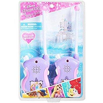 Disney Princess Set of 2 Walkie Talkies with Belt Clip - Belle, Ariel, and Rapunzel