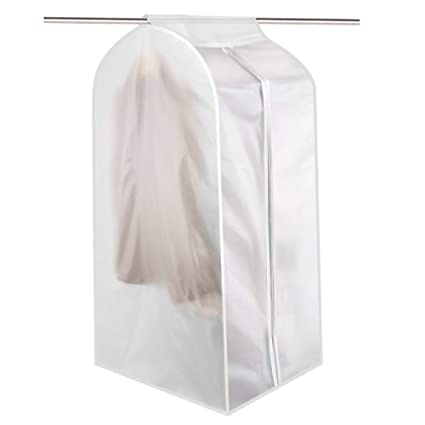 fcda41d243c1 QEES Large Garment Bag for Dance Costumes, Heavy Duty Hanging Clothes  Storage, Garment Clothing Cover Bag for Closet, Dust Protector Dress  Storage Bag ...