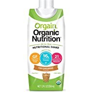 Orgain Organic Nutrition Shake, Iced Cafe Mocha, Gluten Free, Kosher, Non-GMO, 11 Ounce, 12 Count, Packaging May Vary