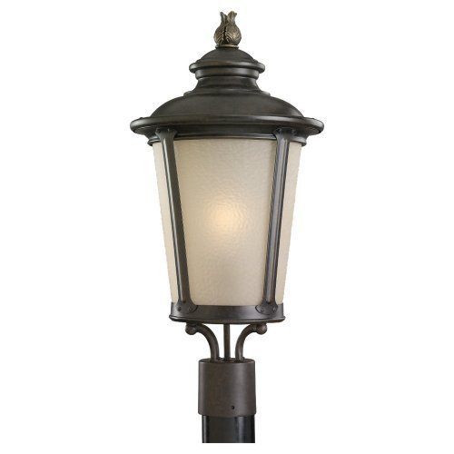 Sea Gull Lighting 89240BL-780 Fluorescent Post Mount Lighting Fixture, Burled Iron by Sea Gull Lighting
