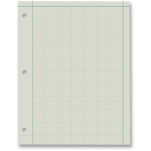 Ampad Green Tint Engineers Quadrille Pad - 200 Sheet - 15 lb - Ruled - Letter 8.50quot; x 11quot; - Green Tint Paper
