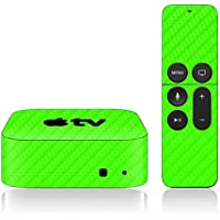 iCarbons Green Carbon Fiber Skin for Apple TV 4th Gen. / Remote Skin Included 4th Generation