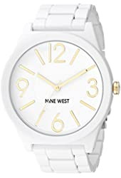Nine West Women's NW/1678WTWT Matte White Rubberized Bracelet Watch