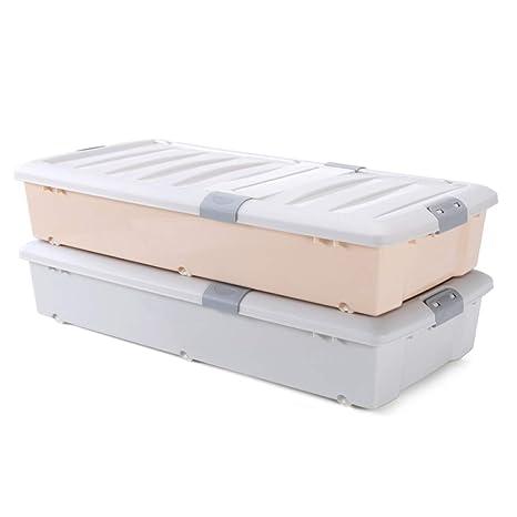 QXTT 2 Grandes Cajas De Almacenamiento De Plástico Debajo De ...