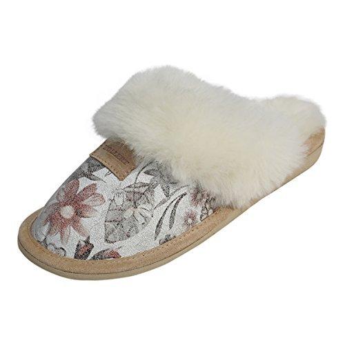 Pelliccia Sidney Donna Pantofole In 2 Qualità Di Agnello Scarpe Pelle Modello Ottima wCxR7zrCqI