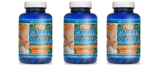 Downright Green Coffee Bean Extract with GCA 800mg per capsule 60ct 50 percent Chlorogenic Acid Dietary Supplement 3 bottle pack