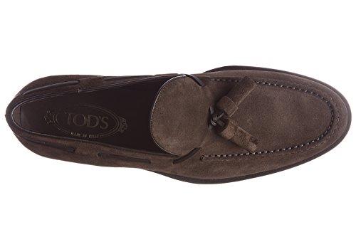 Tod's Wildleder Mokassins Herren Slipper pantofola nappina formale Braun