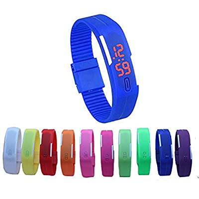 LED Wrist Watch Silicon Band Unisex by sdeals