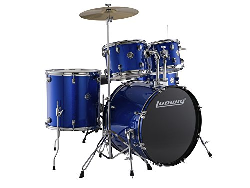 New Ludwig Accent Fuse Drum Set Complete w/ Hardware, Cymbals, Hi-Hats, Throne & Pedal