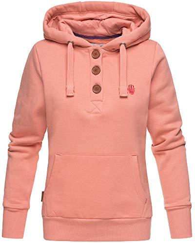 Xs capuche à femme abricot à Yurikoo XL capuche couleurs Marikoo printanier Sweat 5 Z816xqwH