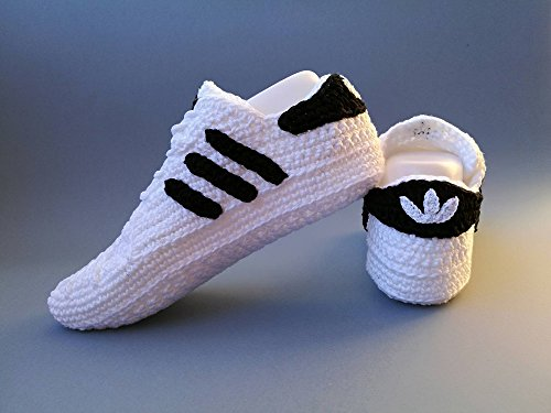 Crochet Pattern Adidas Superstar Unisex, Us sizes: 5-13 (English Edition)