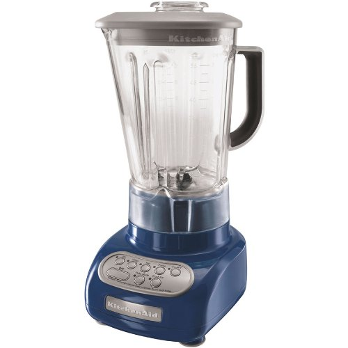 KitchenAid 5-Speed Blender with Polycarbonate Jar Blue Steel Color Very Powerful.