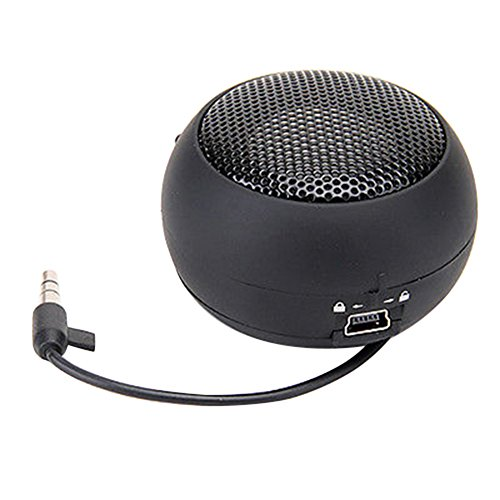 Mini Portable Hamburger Speaker Amplifier for iPod iPad Laptop iPhone Tablet PC (Black) ()