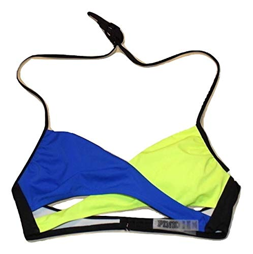 Victoria's Secret Pink Swim Top Bikini Body Wrap Bikini Top Medium Multi Color NWT