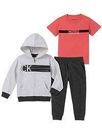 Calvin Klein - Pantalones de chándal para niño, 3 Piezas