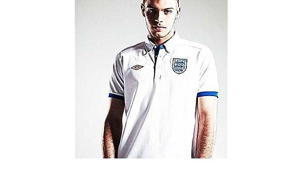 Umbro 2010-11 England WC Media Polo Shirt (White): Amazon.es ...
