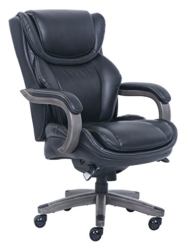La Z Boy 46253A Big & Tall Executive Chair Bonded Leather, (La Z-boy Leather Arm Chair)