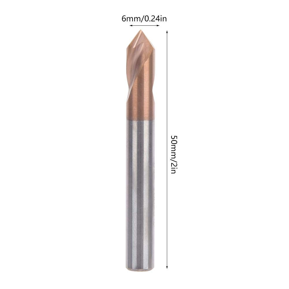 D6502T90/° Tungsten Steel 90 Degree Drilling Chamfering Tool 55HRC Titanium Silicon Coating High Hardness Drill for Milling Machine Turning Spotting Drill