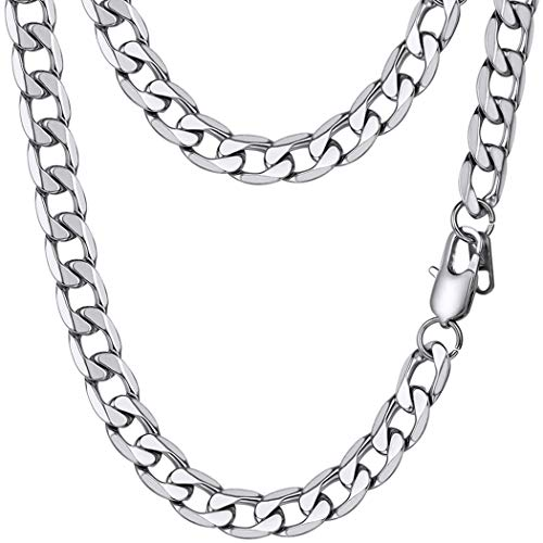 PROSTEEL Cuban Link Necklace Stainless Steel Big Wide Chain Chunky Choker Women Men Jewelry Gift Layered Layering Necklace