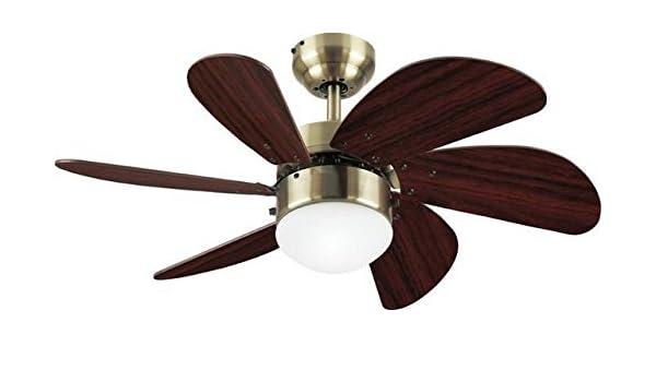 Westinghouse 30 Turbo Swirl Ceiling Fan/Lamp, Antique Brass - - Amazon.com