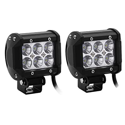"""2x STARR Lite 3"""" 18w R-Spec Off Road LED driving Work Light Bar -3W LED Lumen Great For Jeep Cabin/Boat/SUV/Truck/Car/ATV"""
