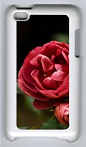 Apple iPod 4 Case and Cover - Red Rose Custom Design Polycarbonate Hard Hard Plastic Case for iPod 4/ iPod 4th- White
