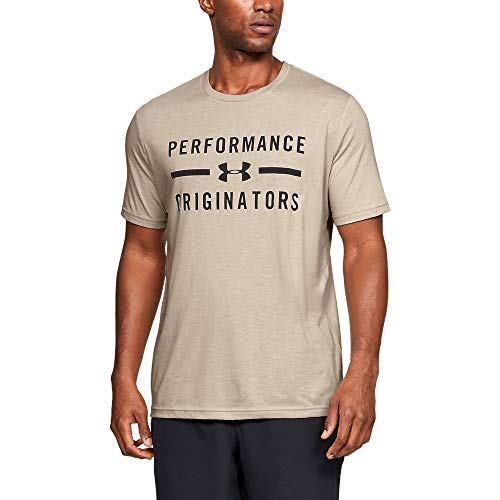 Under Armour Performance Originators Short Sleeve, Khaki Base Medium Heather//Black, XX-Large ()