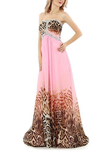 Pink Rosa Abendkleider Party Lang Bainjinbai Kleider BrautjungfernKleider Kristal Leoparden Cocktail zqOAwEF