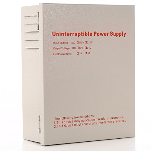 UHPPOTE Uninterruptible Power Supply Converter Input 110VAC Output 12VDC 5A Support External Battery
