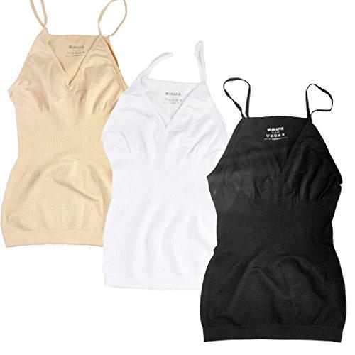 munafie-womens-shapewear-tummy-control-seamless-camisole-m-us-0-8-black-beige-white-3-pack