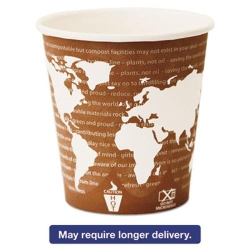 Eco-Products ECP EP-BHC10-WAW World Art Renewable and Compostable Wrapped Hot Cup, 10 oz..Capacity (Pack of 1000)