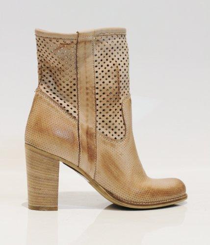 Ovye by Cristina Lucchi ES825 von 2013 Echtleder Sommer Stiefeletten Schuhe Stiefel Hand Made in Italy
