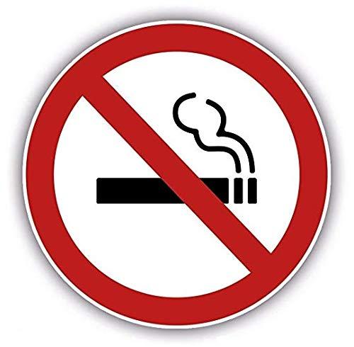10 unidades + 1 Cartel grande autoadhesivo Premium de Prohibido Fumar, totalmente gratis – Carteles autoadhesivos circulares de Prohibido Fumar para interiores y exteriores – Cartel con protector UV Peters Warenland